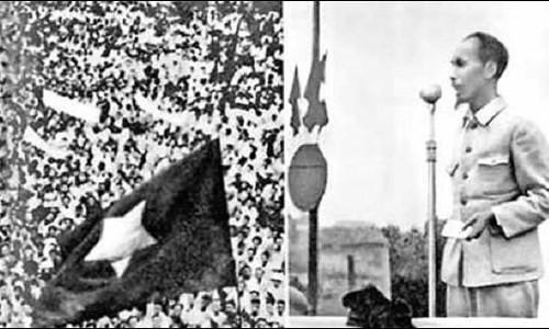Chủ tịch Hồ Chí Minh đọc Tuyên ngôn độc lập khai sinh nước Việt Nam Dân chủ cộng hòa ngày 2/9/1945. Ảnh tư liệu