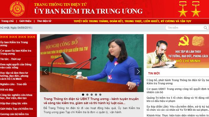 Trang thông tin điện tử Ủy ban Kiểm tra Trung ương trên mạng Internet có địa chỉ: www.ubkttw.vn.