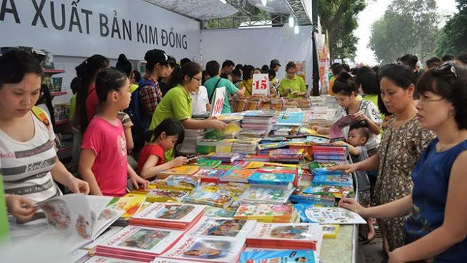 Ngày sách VN ở Hà Nội năm 2015. -Ảnh tư liệu TT.