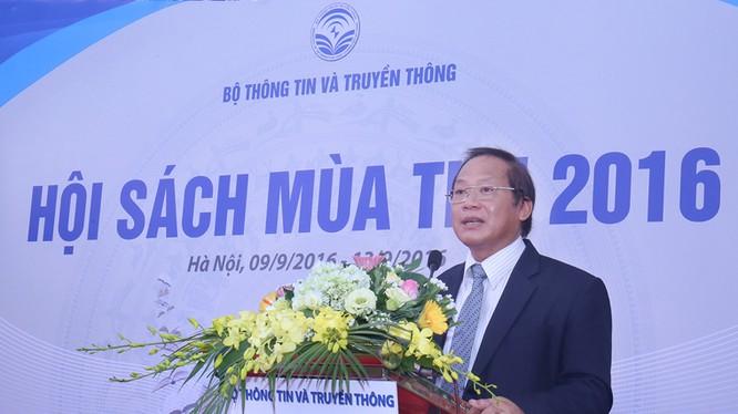 Bộ trưởng Bộ TT&TT Trương Minh Tuấn phát biểu tại Lễ khai mạc. Ảnh: Đức Huy