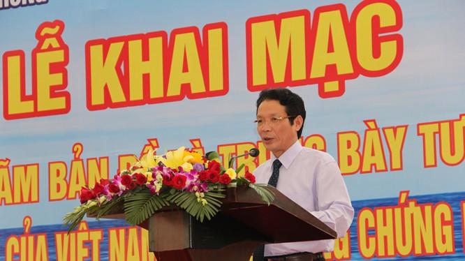 Thứ trưởng Hoàng Vĩnh Bảo phát biểu tại Lễ khai mạc triển lãm