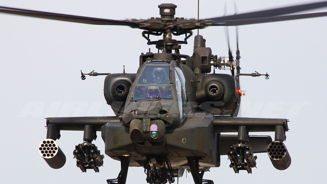 Máy bay trực thăng AH-64E Apache có nhiều thiết bị tân tiến nhất.