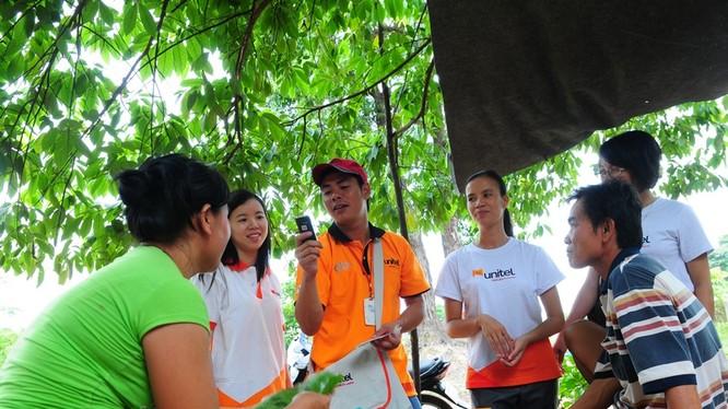 Với 4.000 trạm phát sóng (BTS) và 23.000 cáp quang, Unitel phủ sóng tới 100% số huyện và 95% dân số Lào.