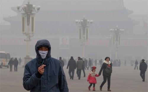 Trung Quốc đang là nước bị ô nhiễm không khí nặng nề nhất do ảnh hưởng của quá trình công nghiệp hoá.