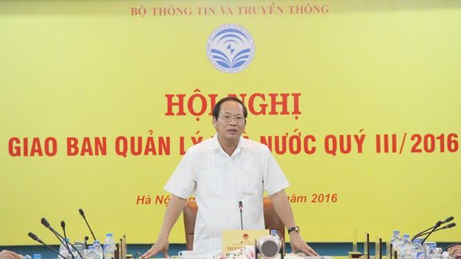 Bộ trưởng Trương Minh Tuấn phát biểu chỉ đạo tại hội nghị.