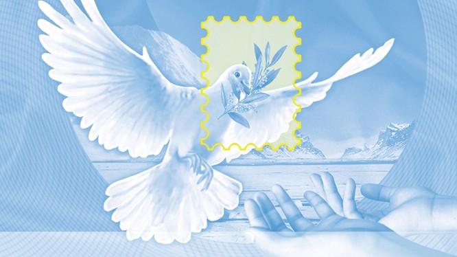 Mẫu phiếu hồi đáp quốc tế do họa sỹ Nguyễn Du, Tổng công ty Bưu điện Việt Nam thiết kế được giải nhất.