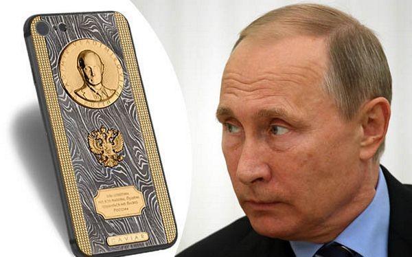 Tổng thống Nga Vladimir Putin được tặng điện thoại iPhone 7 độc đáo