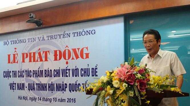 Thứ trưởng Hoàng Vĩnh Bảo phát biểu tại Lễ phát động cuộc thi