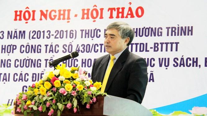 Thứ trưởng Nguyễn Minh Hồng phát biểu tại Hội nghị - Hội thảo