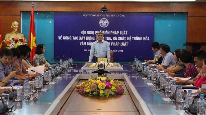 Thứ trưởng Nguyễn Minh Hồng phát biểu khai mạc Hội nghị