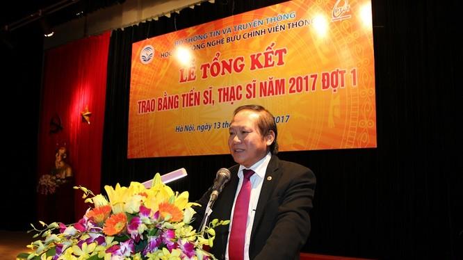 Tiến sĩ Trương Minh Tuấn, Bộ trưởng Bộ TT&TT phát biểu tại buổi lễ.