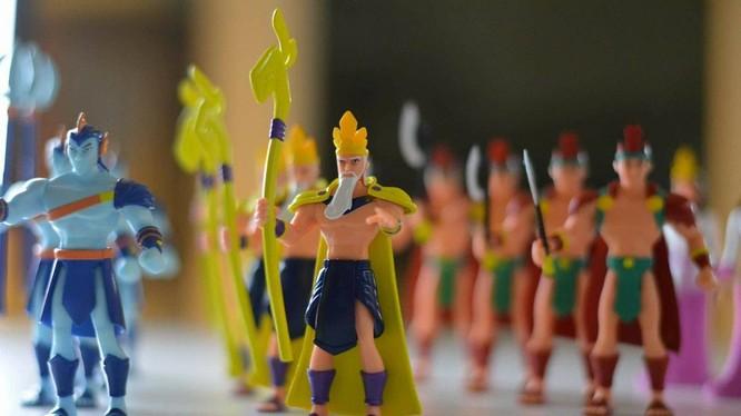 """Các nhân vật trong bộ đồ chơi """"Sơn Tinh - Thủy Tinh"""" được thiết kế sống động, sắc nét."""