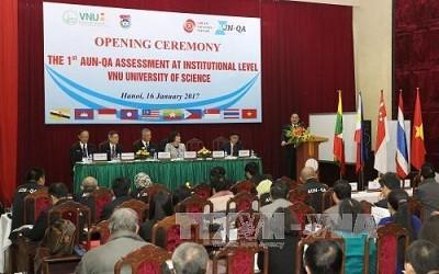 Lễ khai mạc đợt kiểm định chất lượng giáo dục theo tiêu chuẩn Mạng lưới các trường đại học Đông Nam Á. Ảnh: TTXVN