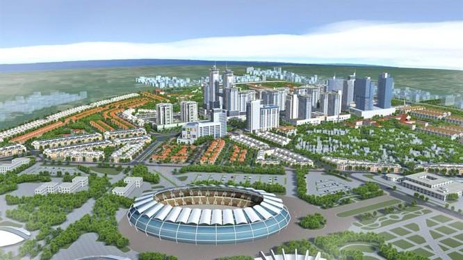Khu đô thị Hòa Lạc được xác định trên cơ sở địa giới hành chính các huyện Quốc Oai, huyện Thạch Thất và thị xã Sơn Tây, có quy mô khoảng 17.294 ha.