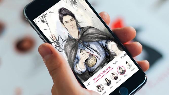 """Tính năng cắt ghép ảnh của ứng dụng Pitu cho phép người dùng """"hóa thân"""" thành nhân vật trong phim cổ trang Trung Quốc."""