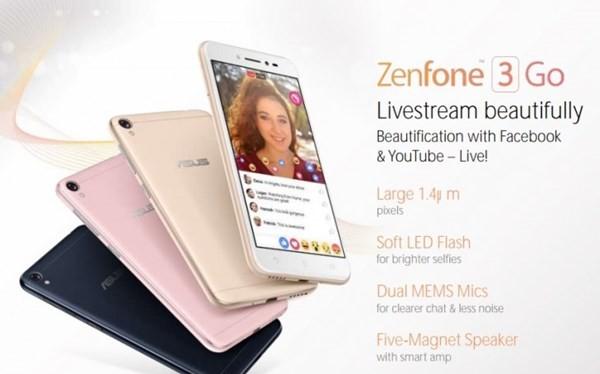 Hình ảnh mẫu smartphone Asus ZenFone 3 Go.