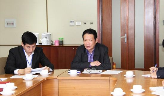 Thứ trưởng Hoàng Vĩnh Bảo chủ trì buổi làm việc