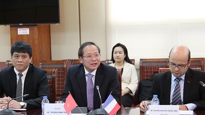 """Bộ trưởng Trương Minh Tuấn: """"Hợp tác trong lĩnh vực CNTT-TT đang góp phần làm sâu sắc thêm mối quan hệ hai nước Việt - Pháp"""""""