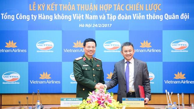 Lãnh đạo Viettel và VNA ký thỏa thuận hợp tác chiến lược
