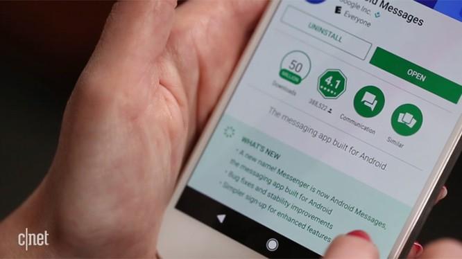 Người dùng sẽ sớm được cập nhật Android Message qua Play Store.