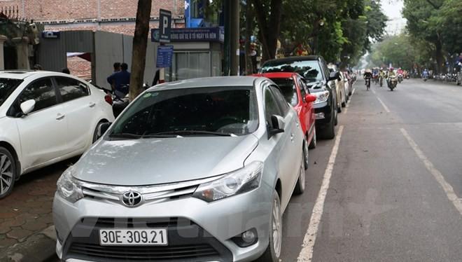 Hà Nội thí điểm triển khai dự án ứng dụng trông giữ xe tự động qua điện thoại từ 1/5 tới. (Ảnh: Việt Hùng/Vietnam+)