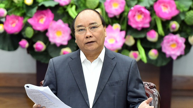 Thủ tướng nhấn mạnh phải tận dụng cơ hội, phải có giải pháp hạn chế thách thức của cuộc cách mạng công nghiệp lần thứ 4. Ảnh: VGP/Quang Hiếu