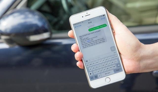 Chủ phương tiện thanh toán thành công phí đỗ xe bằng cách nhắn tin theo cú pháp. Ảnh: Internet