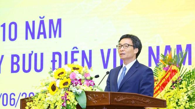 Phó Thủ tướng nhấn mạnh thành tích VNPost đạt được một phần là nhờ kế thừa, phát huy truyền thống hơn 70 năm của ngành bưu điện.