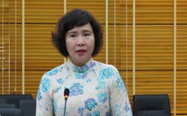 Thứ trưởng Hồ Thị Kim Thoa trong một phiên họp tại TP.HCM.
