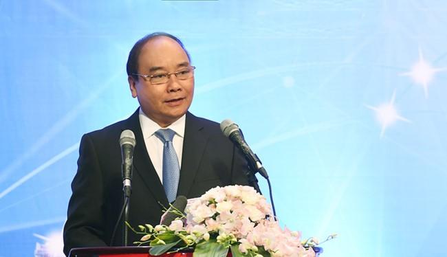 Thủ tướng Chính Phủ Nguyễn Xuân Phúc tham dự và phát biểu tại Diễn đàn. Ảnh chụp tại Vietnam ICT Summit 2016, nguồn TTXVN.