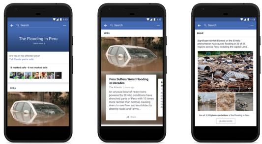 Facebook đã phát triển một số công cụ để ứng phó với khủng hoảng. Ảnh: MH.