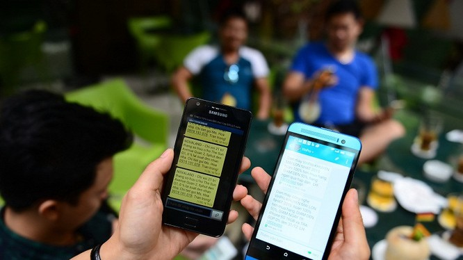 Các nhà mạng đều báo cáo tin nhắn rác giảm mạnh so với cùng kỳ. Ảnh minh hoạ: PLO.