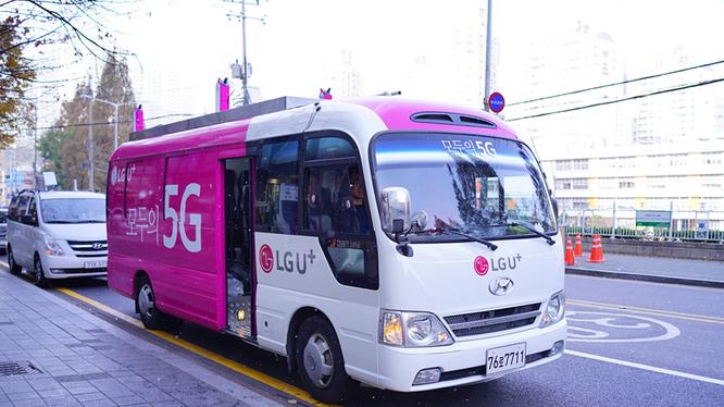 LG U+ và Huawei hoàn thành thử nghiệm hệ thống mạng 5G quy mô lớn trong môi trường tiền thương mại tại quận Gangnam, Seoul. Ảnh: LG U+
