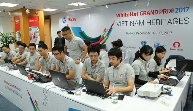 Lần đầu tiên Việt Nam đạt giải Nhất cuộc thi an ninh mạng toàn cầu. Ảnh: WhiteHat Grand Prix 2017