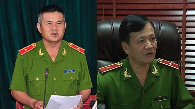 Thiếu tướng Hồ Sỹ Tiến và Thiếu tướng Nguyễn Anh Tuấn được biết đến với các thành tích phá án nhanh. Ảnh: Bộ Công an.