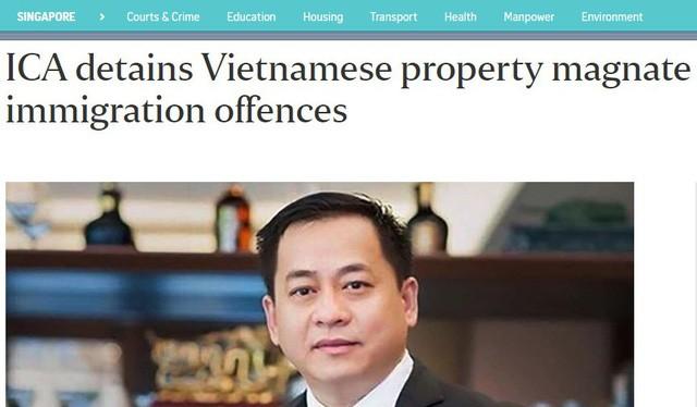 """Hình ảnh Vũ """"nhôm"""" trên báo The Straitimes (Singapore)"""