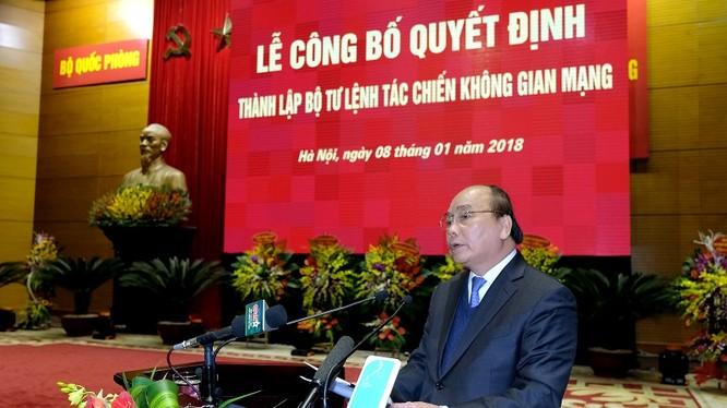 Thủ tướng Nguyễn Xuân Phúc phát biểu tại buổi lễ - Ảnh: VGP