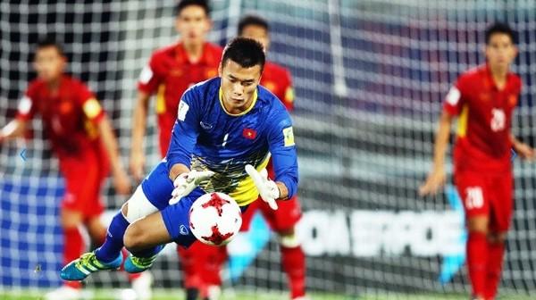 Thủ môn Tiến Dũng và tập thể U23 Việt Nam đã thể hiện rất tốt trong trận cầu tối nay.