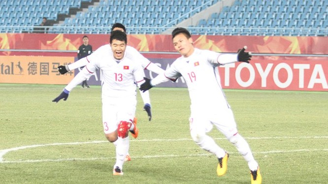 Quang Hải đã chớp cơ hội rất nhanh khi dứt điểm cực nhanh ở khoảng cách rất gần khung thành, sút tung lưới U23 Qatar, gỡ hòa 1-1 cho U23 Việt Nam.