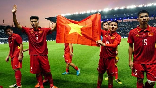Chiến tích của U23 Việt Nam đứng đầu diễn đàn bóng đá lớn nhất thế giới. Ảnh: TTXVN