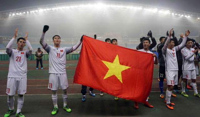 U23 Việt Nam đã làm nên chiến công lịch sử ở giải U23 châu Á. Ảnh: LĐBĐ VN