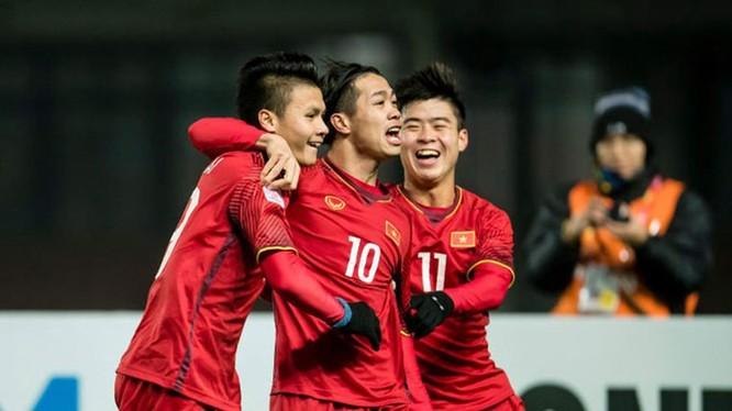 Được biết, U23 Việt Nam nhận được số tiền thưởng sau thành tích giành ngôi Á quân AFC Cup 2018 là hơn 23,6 tỷ đồng. Ảnh: VFF.