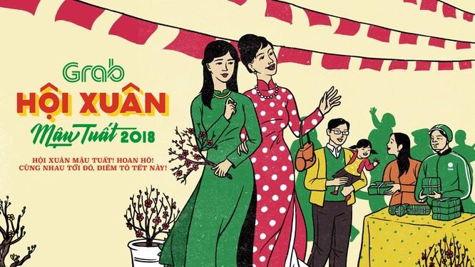 Hội chợ Xuân do Grab tổ chức sẽ diễn ra ở cả hai miền. Ảnh: Grab