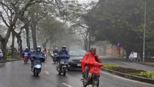 Sáng nay, khu vực Bắc Bộ và Bắc Trung Bộ có mưa, mưa nhỏ. Ảnh: TTDBKTTVTW