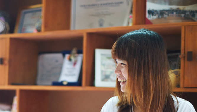 Chị Hương Liên, Người sáng lập dự án kinh doanh du lịch I love Hue. Ảnh: NVCC