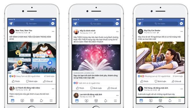 """Những bài viết """"nhử mồi"""" bình chọn, bày tỏ cảm xúc, chia sẻ,... sẽ bị hạ bậc trên Facebook."""