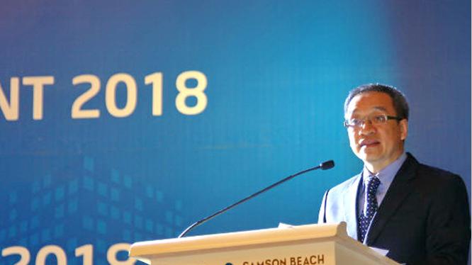 Thứ trưởng Bộ TT&TT Phan Tâm phát biểu tại hội nghị.