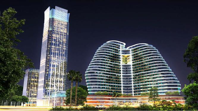 Phối cảnh 3D Công viên CNTT tập trung Quảng Ninh. Hình minh họa