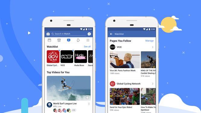 Các video mới nhất về giải trí, thể thao, tin tức và nhiều lĩnh vực khác nữa đều có trong bảng tin cá nhân Watch của người dùng.