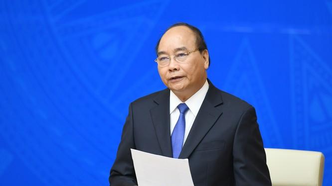 Thủ tướng Nguyễn Xuân Phúc phát biểu tại phiên họp - Ảnh: VGP